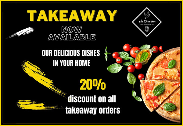 Eat and Drink at home with our takeaway