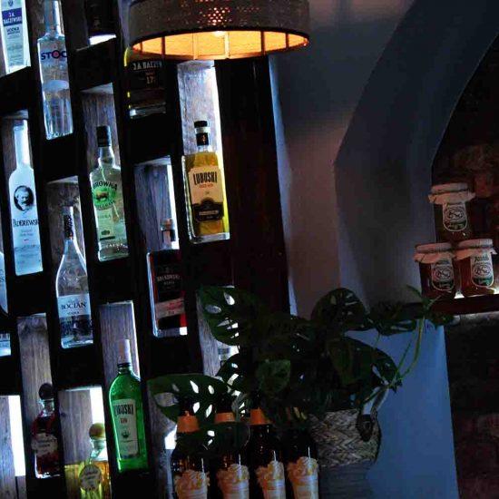 Shelves in the Vodka Bar