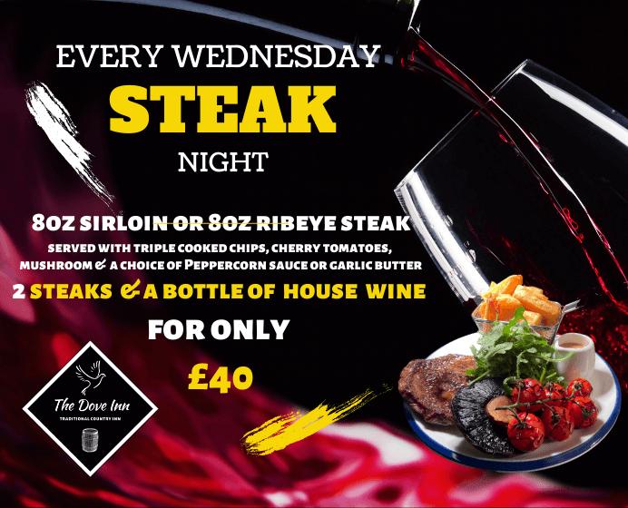 Steak Night Wednesday Home