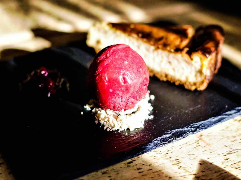 Cheesecake with Sorbet